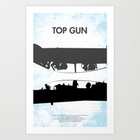 top gun Art Prints featuring Top Gun Communicating  by NotThatMikeMyers