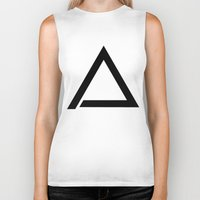 triangle Biker Tanks featuring TRIANGLE by eARTh