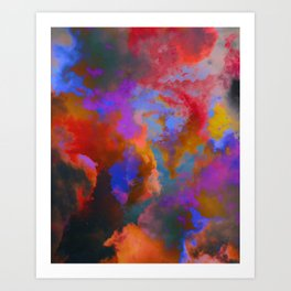 Colorful clouds in the sky V Art Print