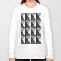 silver Long Sleeve T-shirts featuring Silver by Fernanda Fattu