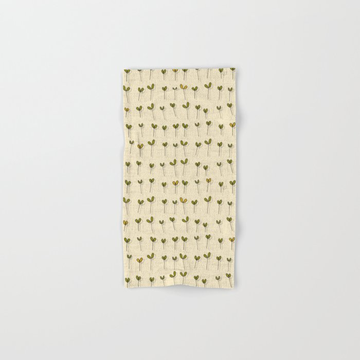 sprouts cream Hand & Bath Towel