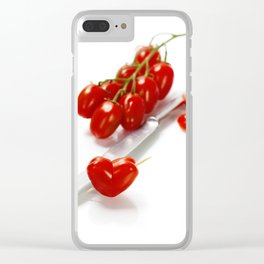 tomato heart - healthy eating concept Clear iPhone Case