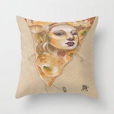 PIZZA LADY Throw Pillow
