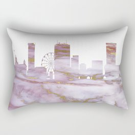 Birmingham Skyline United Kingdom Rectangular Pillow