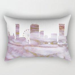 Birmingham Skyline United Kingdom Rectangular Pillow