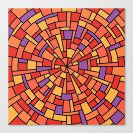 Wedgework in Orange Canvas Print