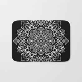 Black Mandala Bath Mat