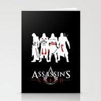 assassins creed Stationery Cards featuring Assassins by Pixel Design