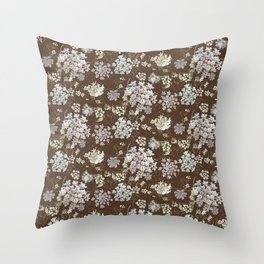 MICHIGAN LACE BROWN WKS Throw Pillow
