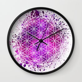 Flower Of Life Sacred Geometry Wall Clock