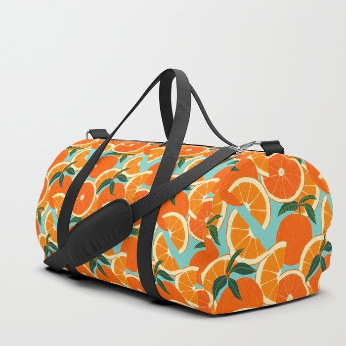 Orange Harvest - Blue Duffle Bag