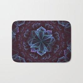 Ornate Blossom in Cool Blues Bath Mat