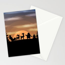 Santa Claus lost Stationery Cards