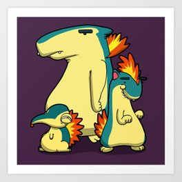 Pokémon - Number 155, 156 & 157 Art Print