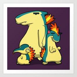 Pokémon - Number 155, 156 & 157 Art Print