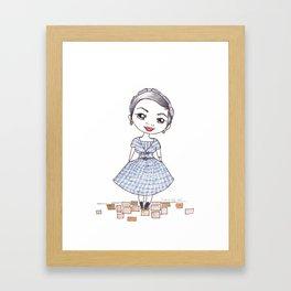 Vintage Gal ~ Nora Finds Framed Art Print