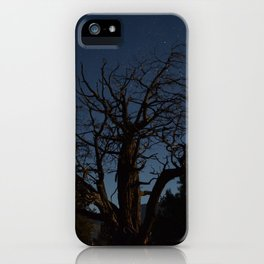 Moon brings life to an old tree iPhone Case