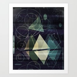 The Geometry of Thoughts Art Print