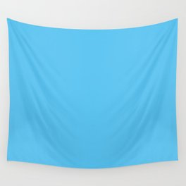 Bright Blue Wall Tapestry