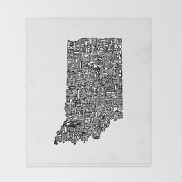 Typographic Indiana Throw Blanket