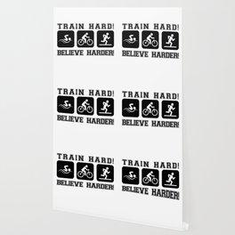 Triathlon Train Hard Gift Wallpaper