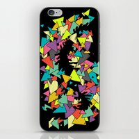 triangles iPhone & iPod Skins featuring Triangles  by AtomicChild