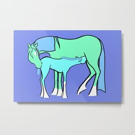 Mare and Foal #1 Metal Print