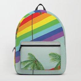 Rainbow Palm trees Backpack