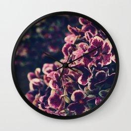 hydrangea - deep purple Wall Clock