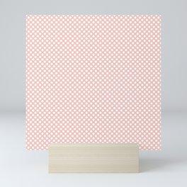 Seashell Pink and White Polka Dots Mini Art Print