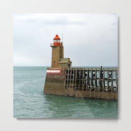 Fécamp Lighthouse Metal Print