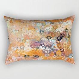 Blotchy Autumn Watercolor Pattern Rectangular Pillow