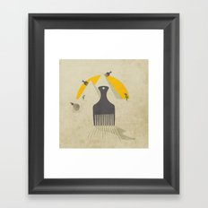 combing the desert Framed Art Print