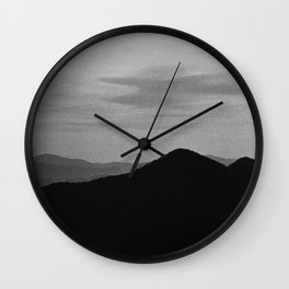 Fine mountains lines Wall Clock