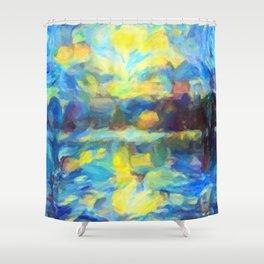 van Gogh Tribute: Sunrise Shower Curtain