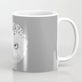 Snowy Owl Grey Coffee Mug