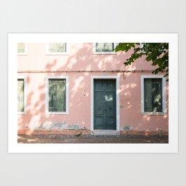 Burano Blush Art Print