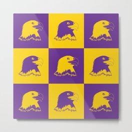 Purple and Gold Nine Eagle Cares Metal Print