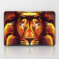 the lion king iPad Cases featuring Lion King by Mart Biemans