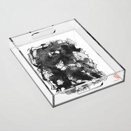Black art Acrylic Tray