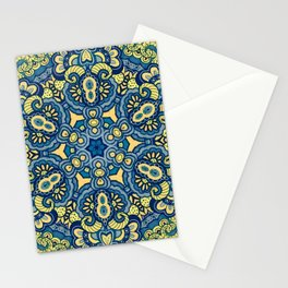 Blue Yellow original Art Stationery Cards