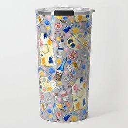 Creative Craft Corner on Grey Travel Mug