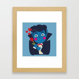 Vampi, the Sweetest Vampire Framed Art Print