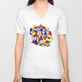 Mondrian Sneeze Unisex V-Neck
