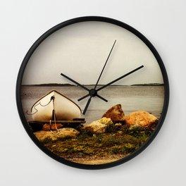 Row Boat Wall Clock