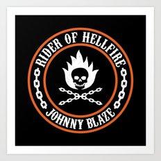Rider of Hellfire Art Print