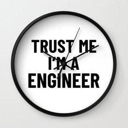 Trust Me I'm an Engineer Wall Clock