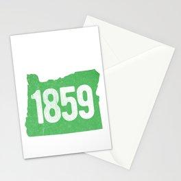 Classic Retro Oregon Established 1859 State Pride Vintage Stationery Cards