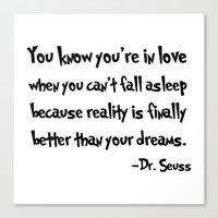 dr seuss Canvas Prints featuring -Dr. Seuss. by S J A E