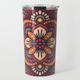 Red Mandala Travel Mug